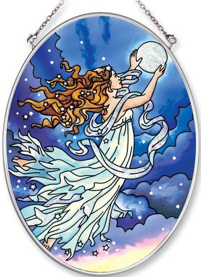 Amia 6245 Moon Fairy Medium Oval Suncatcher