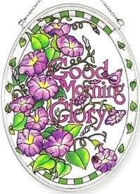 Amia 6262 Morning Glory Medium Oval Suncatcher