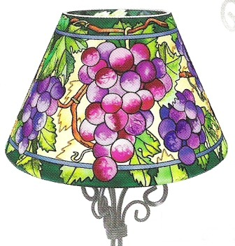 Amia 6307 Fruit Of The Vine Candle Lamp - Shade Only