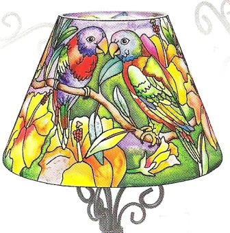 Amia 6309 Birds of Together Candle Lamp - Shade Only