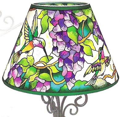 Amia 6313 Hummingbird & Wisteria Candle Lamp - Shade Only