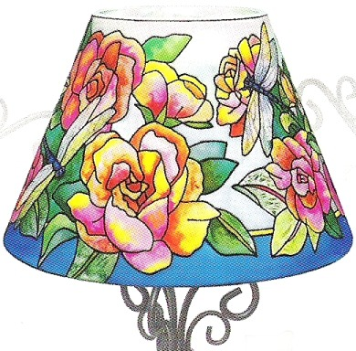 Amia 6317 Nature's Classic Beauty Candle Lamp Shade Only