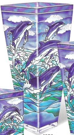 Amia 6376 Dolphins Extra Large Vase