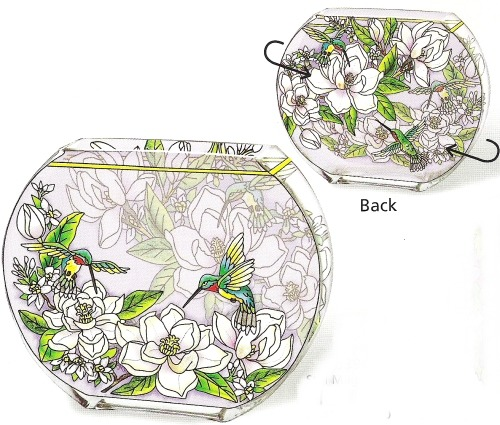 Amia 6394 Still Magnolias Oval Vase