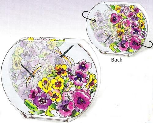 Amia 6400 Fancy Pansies Vase