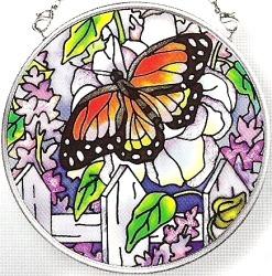 Amia 6432 Peonies & Lilacs Small Circle Suncatcher
