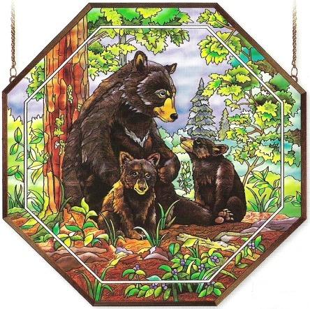 Amia 6490 Bear Family Octagon Panel