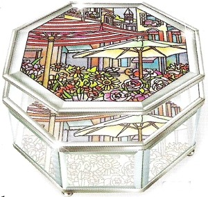 Amia 6524 The Flower Market Octagon Jewelry Box