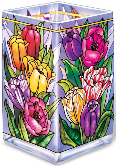 Amia 6556 Tulip Tempo Rectangular Vase Votive Holder