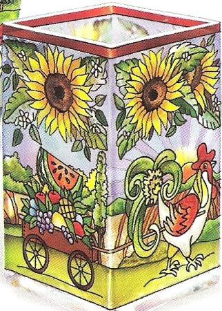 Amia 6559 Heartland Rectangular Vase Votive Holder