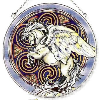 Amia 6626 Pegasus Large Circle Suncatcher