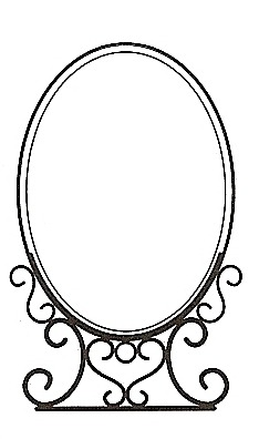 Amia 6697 Small Vertical Oval Stand