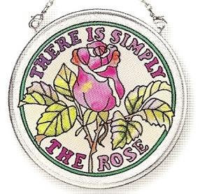 Amia 6776 Simply The Rose Small Circle Suncatcher