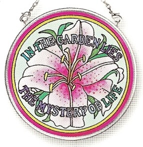 Amia 6783 In The Garden Small Circle Suncatcher