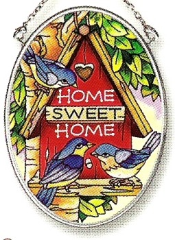 Amia 6793 Home Sweet Home Small Oval Suncatcher