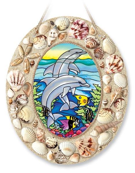 Amia 6917 Dolphin Reef Medium Oval With Seashells