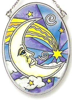 Amia 6966 Moon Glow Small Oval Suncatcher