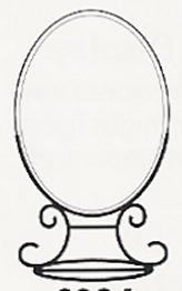 Amia 6995 Vertical Stand Medium Oval Suncatcher