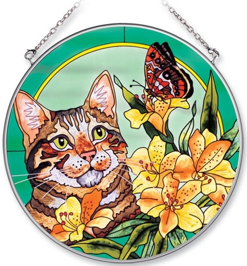 Amia 7079 Butterfly Large Circle Suncatcher