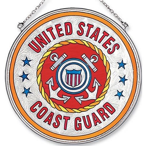 Amia 7129 Coast Guard Large Circle Suncatcher