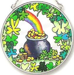Amia 7146 Pot O'Gold Medium Circle Suncatcher