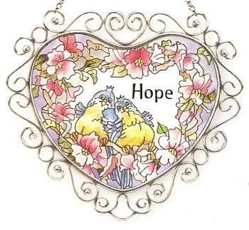 Amia 7302 Hope Wire Suncatcher
