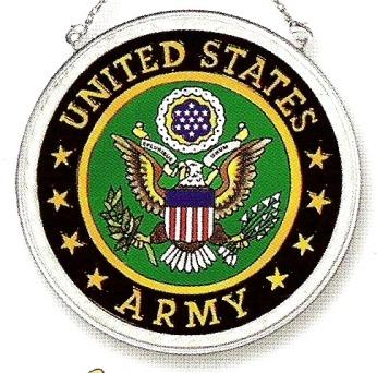 Amia 7340 Army Medium Circle Suncatcher