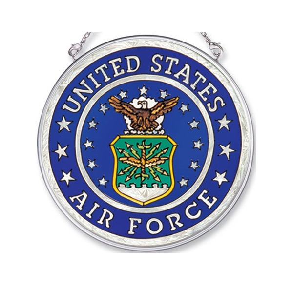 Amia 7341i Air Force Medium Circle Suncatcher