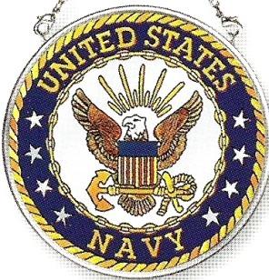 Amia 7347 Navy Small Circle Suncatcher