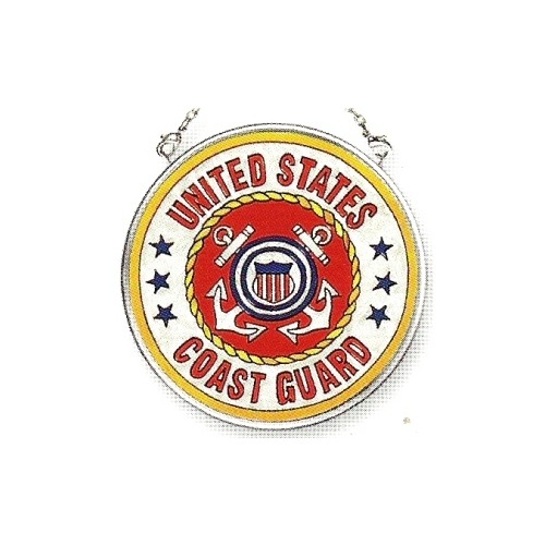 Amia 7348 Coast Guard Small Circle Suncatcher