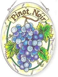 Amia 7352 Pinot Noir Medium Oval Suncatcher