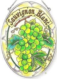 Amia 7355 Sauvignon Blanc Medium Oval Suncatcher