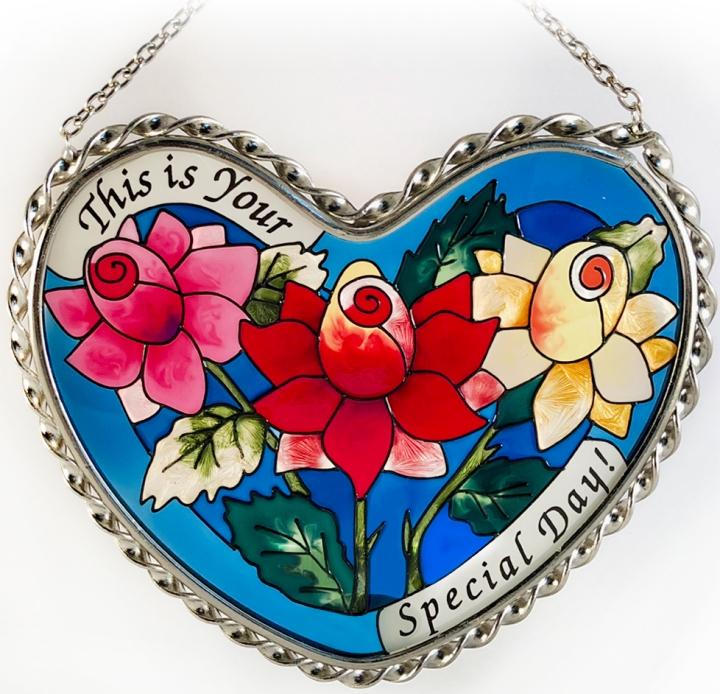 Amia 7361 Special Day Heart Suncatcher