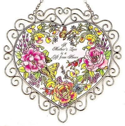 Amia 7380 Mother's Garden Heart Suncatcher