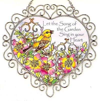 Amia 7381 Garden Song Heart Suncatcher