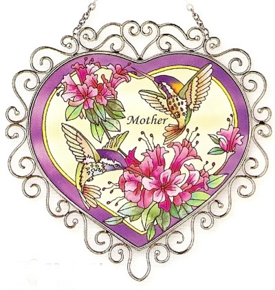 Amia 7386 Mother Heart Suncatcher