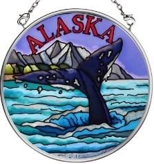 Amia 7393 Whale Tail Small Circle Suncatcher