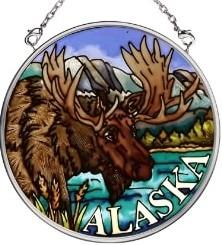 Amia 7394 Moose Small Circle Suncatcher