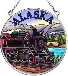 Amia 7396 Train Small Circle Suncatcher