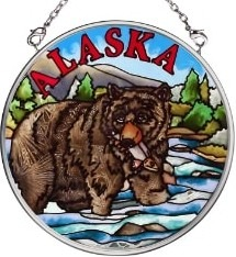 Amia 7397 Grizzly Small Circle Suncatcher