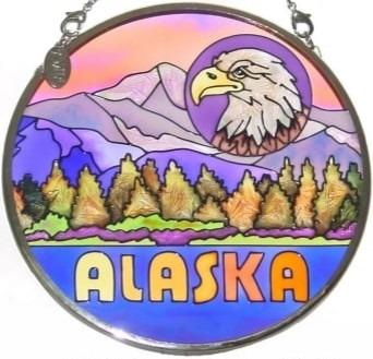 Amia 7403 Alaska Small Circle Suncatcher
