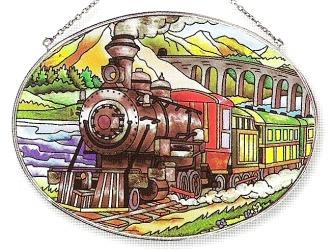 Amia 7410 Train Large Oval Suncatcher