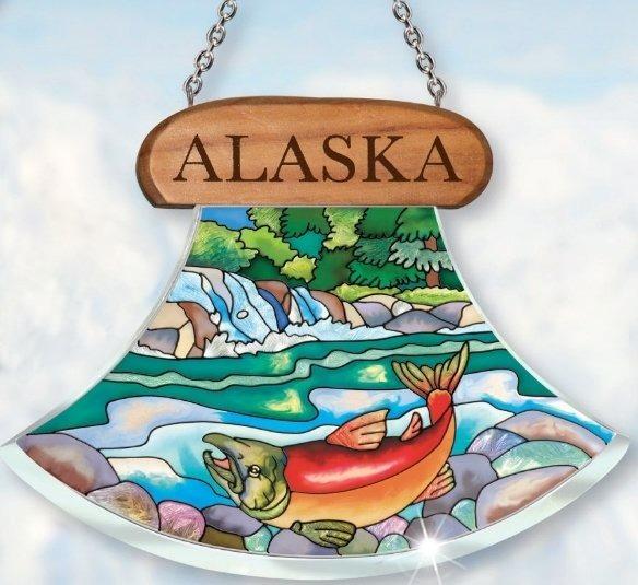 Amia 7429 Alaska Salmon Suncatcher