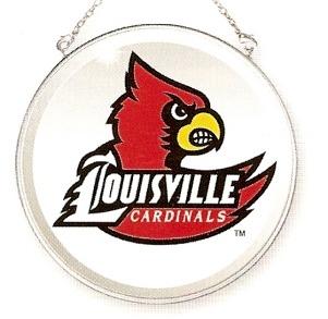 Amia 7480 University of Louisville Cardinals UL Beveled Medium Circle Suncatcher