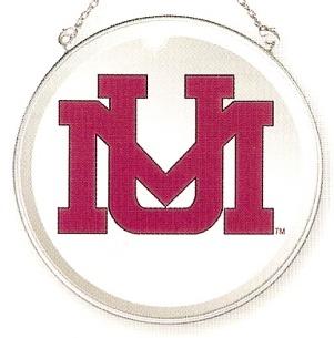 Amia 7483 University of Montana Grizzlies Beveled Medium Circle Suncatcher