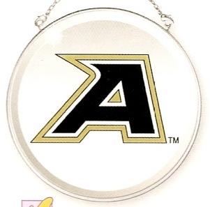 Amia 7486 U.S. Military Academy Beveled Medium Circle Suncatcher