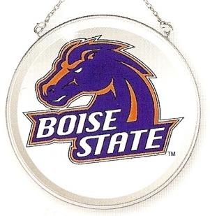 Amia 7487 Boise State Beveled Medium Circle Suncatcher