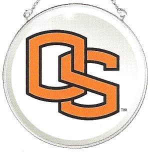 Amia 7491 Oregon State University Beveled Medium Circle Suncatcher