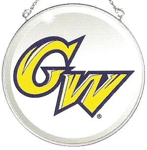 Amia 7506 George Washington University Beveled Medium Circle Suncatcher