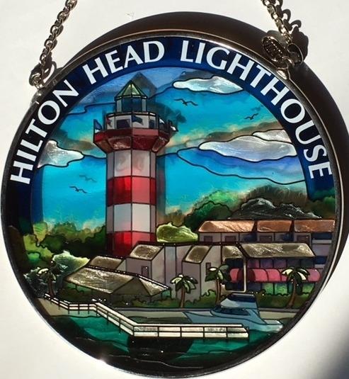 Amia 7507 Hilton Head Lighthouse Medium Circle Suncatcher
